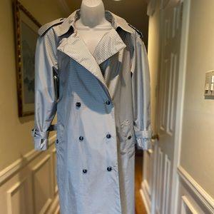Vintage rain trench coat - Black/white checker, 10
